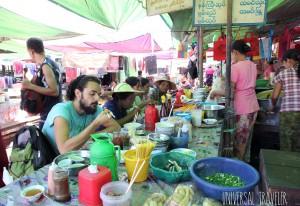 desayunos mercado Myanmar