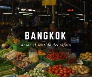 Mercado de Bangkok en Tailandia